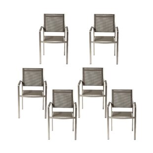 Owlswick 6 Stacking Patio Dining Chairs (Set of 6)