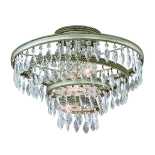 Rosdorf Park Rogelio 3-Light Semi Flush Mount
