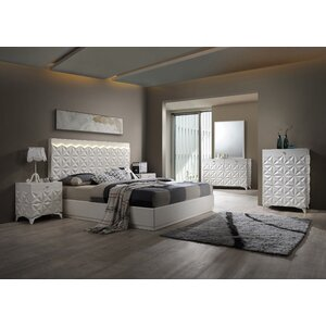 India Platform 5 Piece Bedroom Set