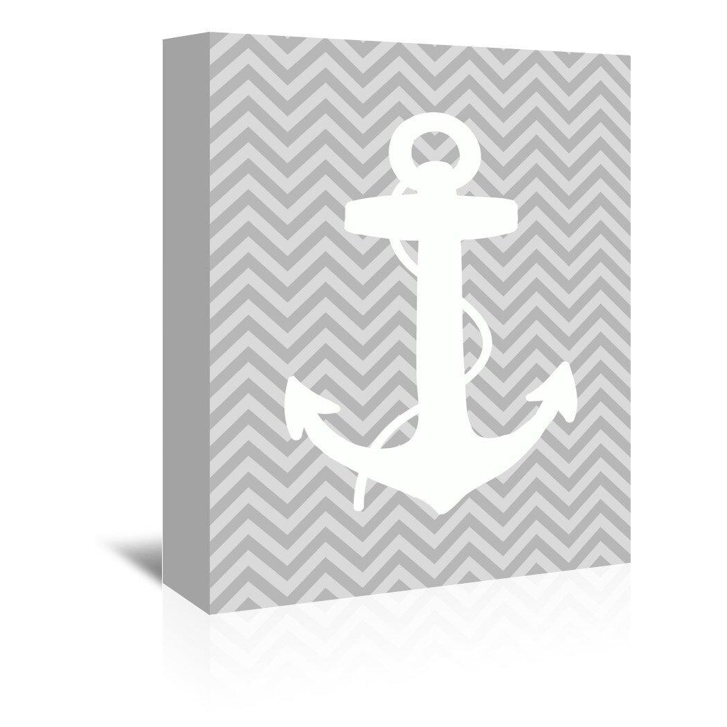 Breakwater Bay Sea Chevron Graphic Art On Wrapped Canvas Wayfair