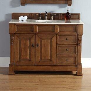 Bedrock 48 Single Country Oak Bathroom Vanity Set with Drawers ByDarby Home Co