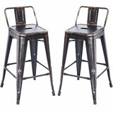 Barnesbury Metal Counter Stool (Set of 2) by Williston Forge