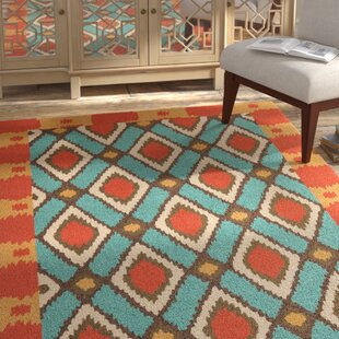 Puri Hand-Hooked Blue/Red Indoor/Outdoor Area Rug