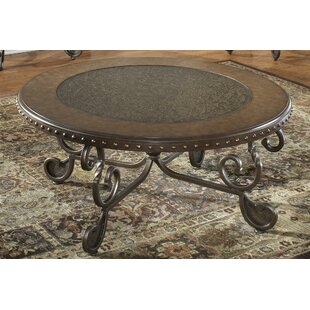 Price comparison Vega Metal Etched Coffee Table by Fleur De Lis Living