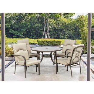 Amalfi 4 Seater Dining Set With Cushions Image