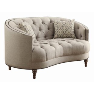 Hayhurst Chesterfield Loveseat by Alcott Hill