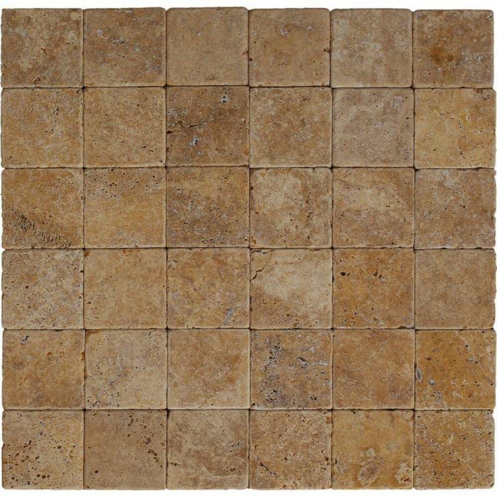 Tile Mosaic Depot 4 X 4 Travertine Marble Look Wall Floor Tile Wayfair