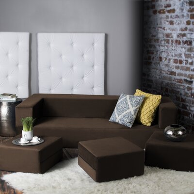 Superieur Eugene Modular Sleeper Sofa With Ottomans