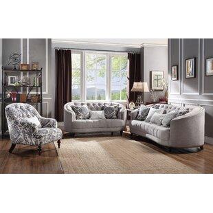 Clarendon Configurable 3 Piece Living Room Set by World Menagerie