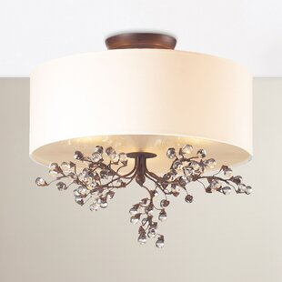 Davidson 3-Light Semi Flush Mount by Darby Home Co