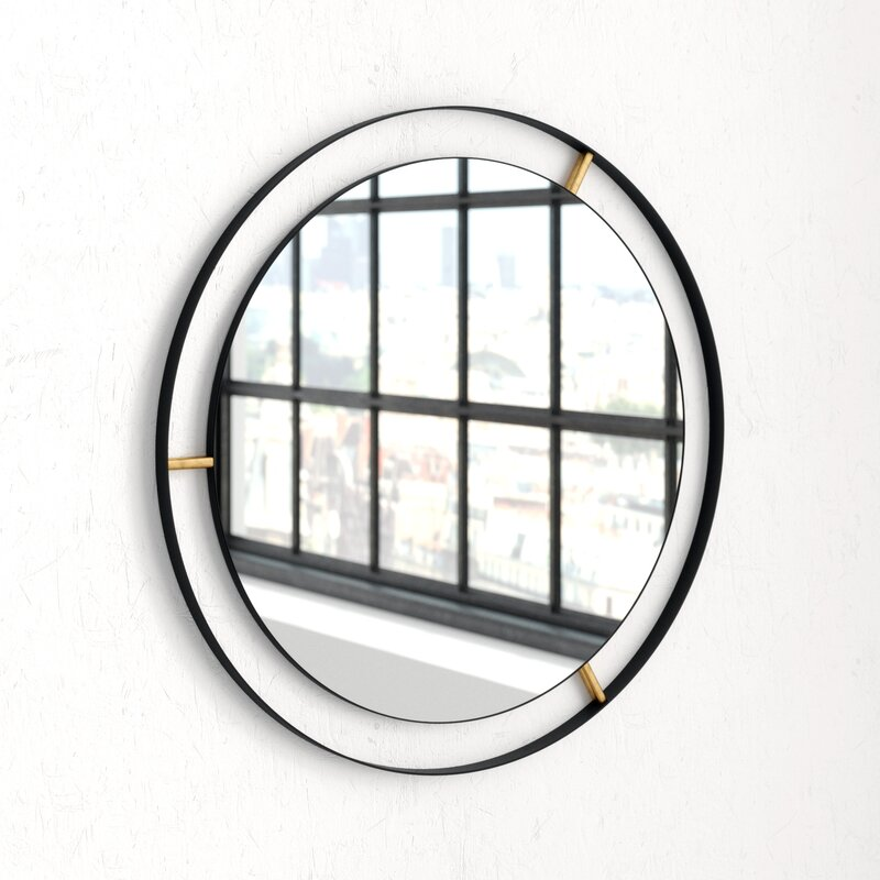 Mercury Row Wolfenbarger Industrial Accent Mirror Reviews Wayfair