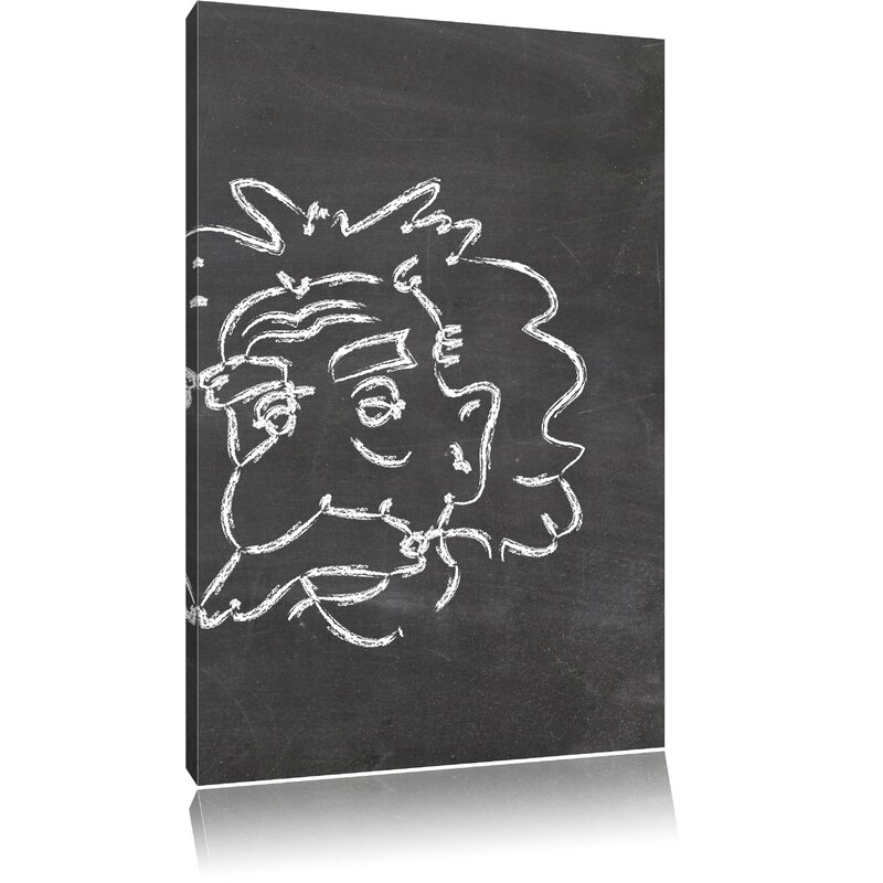 Pixxprint Albert Einstein Memorabilia Wall Art on Canvas | Wayfair.co.uk