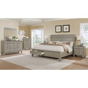 gray wood bedroom furniture. Vasilikos Gray Solid Wood Construction Platform 5 Piece Bedroom Set Furniture  Wayfair