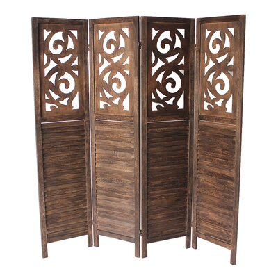 Bungalow Rose Mota 4 Panel Room Divider Reviews Wayfair