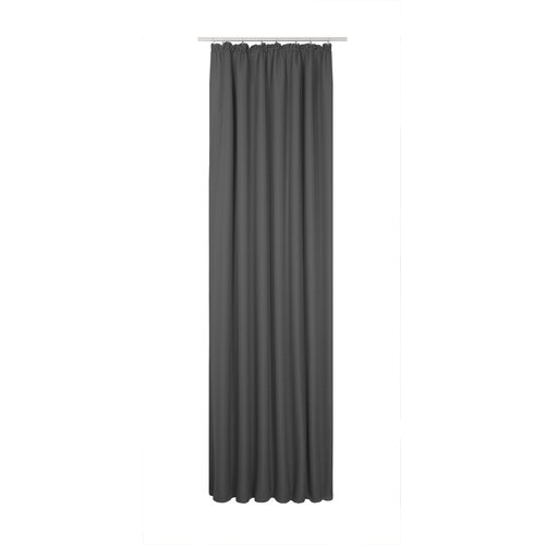 Bolte Pencil Pleat Blackout Thermal Single Curtain Brayden Studio Colour: Black, Size: 175 x 132cm