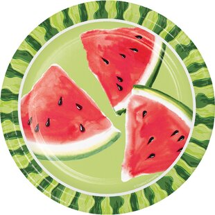 Watermelon Whimsy Paper Appetizer Plate (Set of 24)
