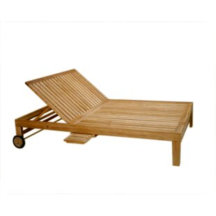Ybanez Double Reclining Teak Chaise Lounge