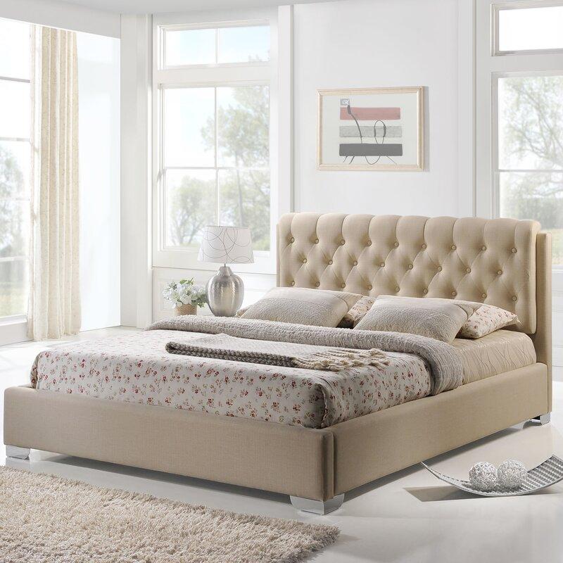 King Upholstered Platform Bed