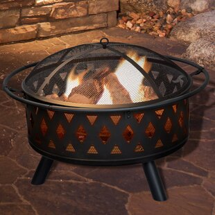 Pure Garden Crossweave Steel Wood Burning..