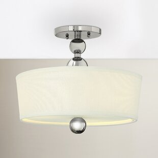 Shaw 3-Light Metal Semi Flush Mount by Willa Arlo Interiors