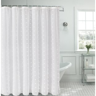 Liah Snow Flower 3D Puff Single Shower Curtain