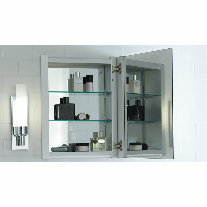 R3 Series 16 X 20 Recessed Or Surface Mount Medicine Cabinet With 2 Adjule