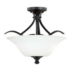 Bruening Semi Flush Mount by Fleur De Lis Living