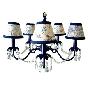 Silly Bear Lighting Camillah 5-Light Shaded Chandelier