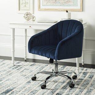 brushed nickel desk chair wayfair