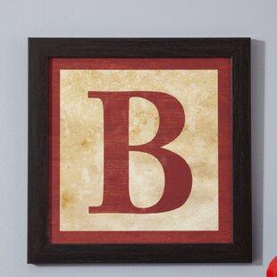 Silloth B' Alphabet Blocks Framed art