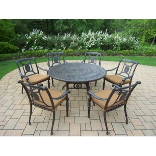 Victoria 7 Piece Dining Set with Cushions by Oakland Living