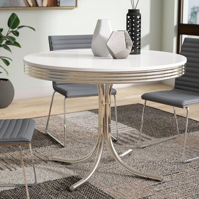 Orren Ellis Kewei Retro Dining Table