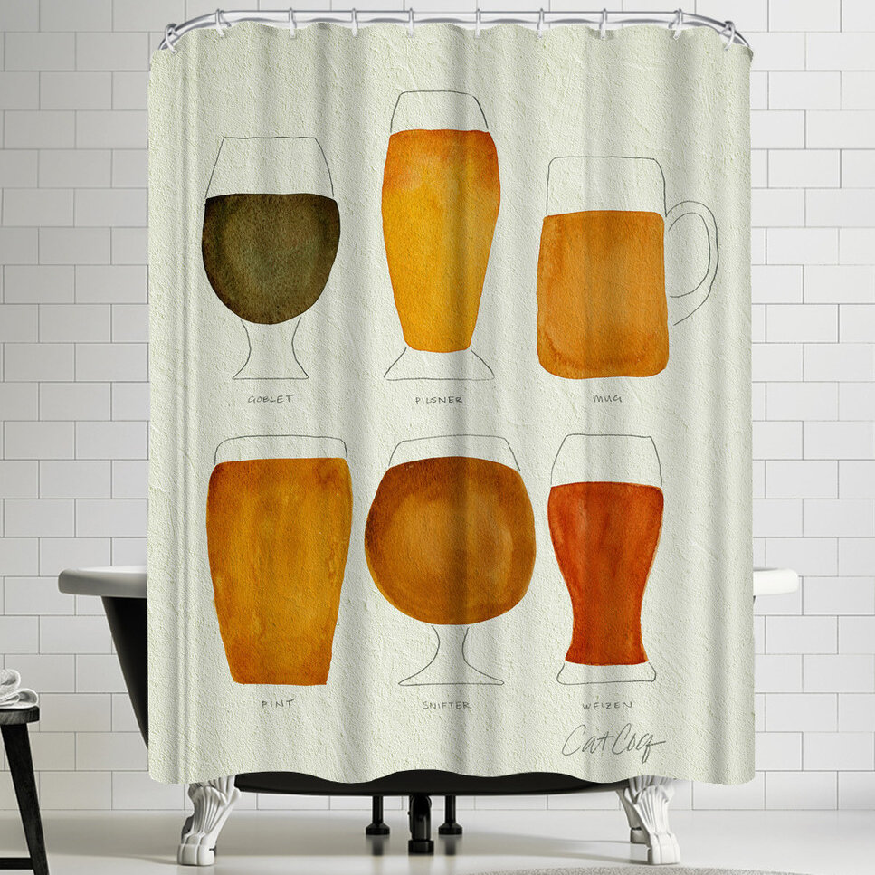 East Urban Home Beer Shower Curtain