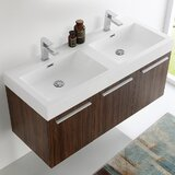 Vista 47 Wall-Mounted Double Bathroom Vanity Set by Fresca