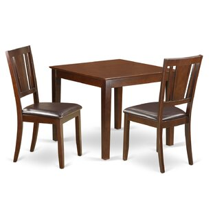 Cobleskill 3 Piece Solid Wood Dining Set Alcott Hill