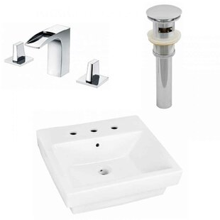 Online Reviews Above Counter Ceramic Rectangular Vessel Bathroom Sink with Faucet and Overflow ByRoyal Purple Bath Kitchen