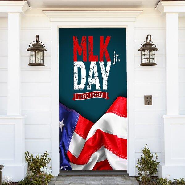 The Holiday Aisle Mlk Day American Flag Door Mural Wayfair