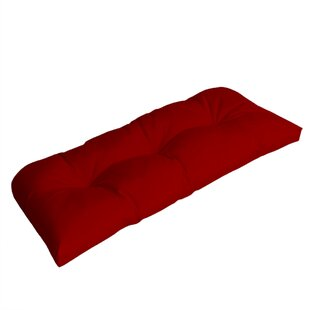 Wicker Indoor/Outdoor Sunbrella Bench Cushion ByComfort Classics Inc.