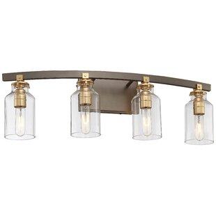4 light vanity light bathroom alysa 4light vanity light industrial lights birch lane
