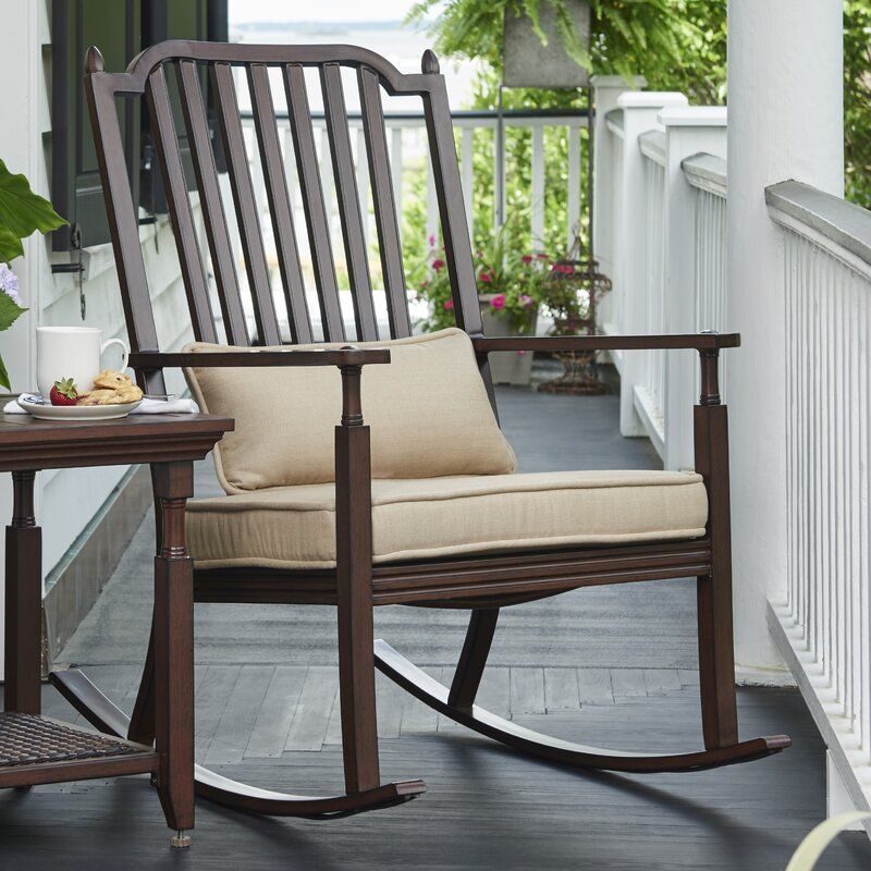 Canora Grey Bade Porch Rocking Chair With Cushions Wayfair Ca
