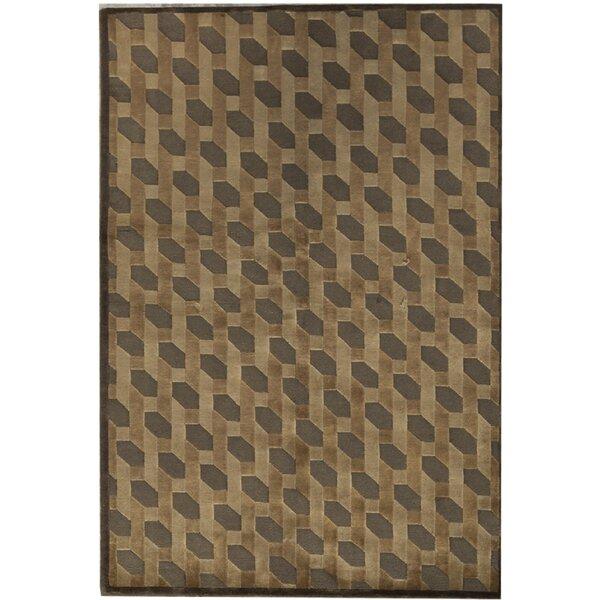 Bokara Rug Co Inc One Of A Kind Himalayan Hand Knotted Brown 4 6 X 6 8 Wool Area Rug Wayfair