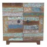 Tympanick Patchwork Design 2 Door Wood Chest by Bloomsbury Market