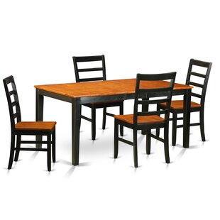 Pillar Traditional 5 Piece Wood Dining Set August Grove