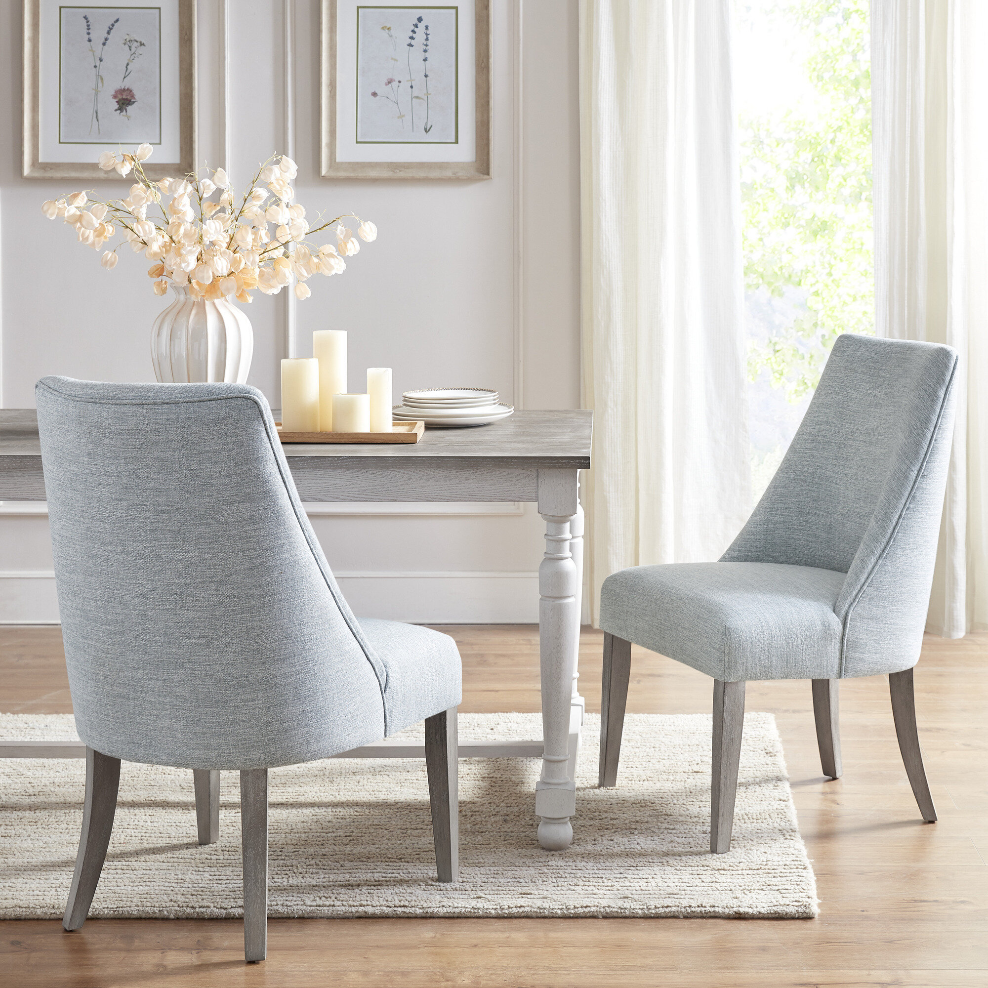 Picture of: Martha Stewart Winfield Upholstered Side Chair In Light Blue Reviews