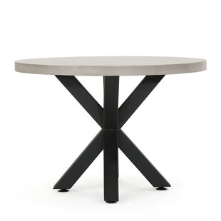 Modern Contemporary Concrete Dining Table Outdoor AllModern - Cement top round dining table