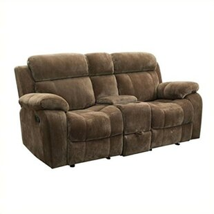 Céline Padded Plush Reclining Loveseat b..