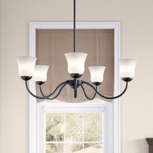 Winston Porter Cathy 5-Light Shaded Chandelier