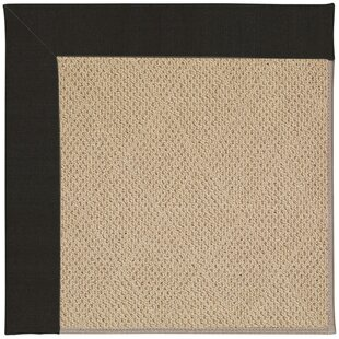 Lisle Machine Tufted Ebony/Brown Indoor/Outdoor Area Rug By Longshore Tides