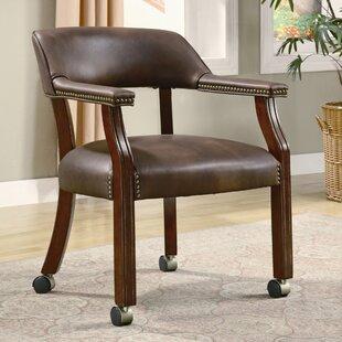 Alcott Hill De Witt Mid-Back Leather Desk Chair