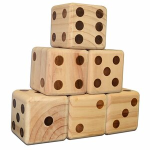 6 Piece Dice Giant Board Game Set
